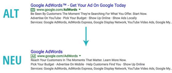 Neues offizielles und weltweites Ad Label bei Google in den SERPS