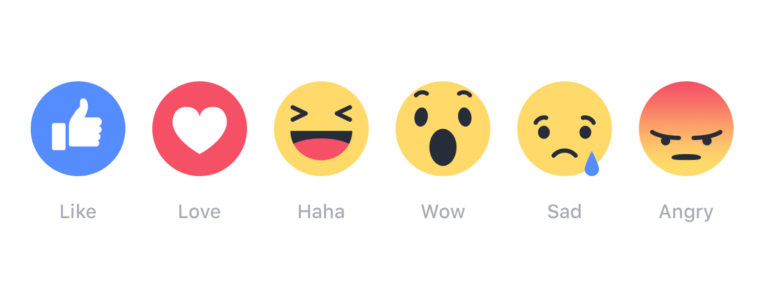 Facebook Reactions sind wichtiger als normale Likes